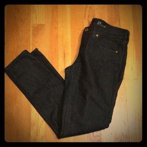 J.Crew  Dark Denim Toothpick Ankle Jeans.  27